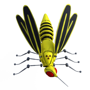 Illustration of a mosquito robot.