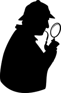 Silhouette of the detective Sherlock Holmes