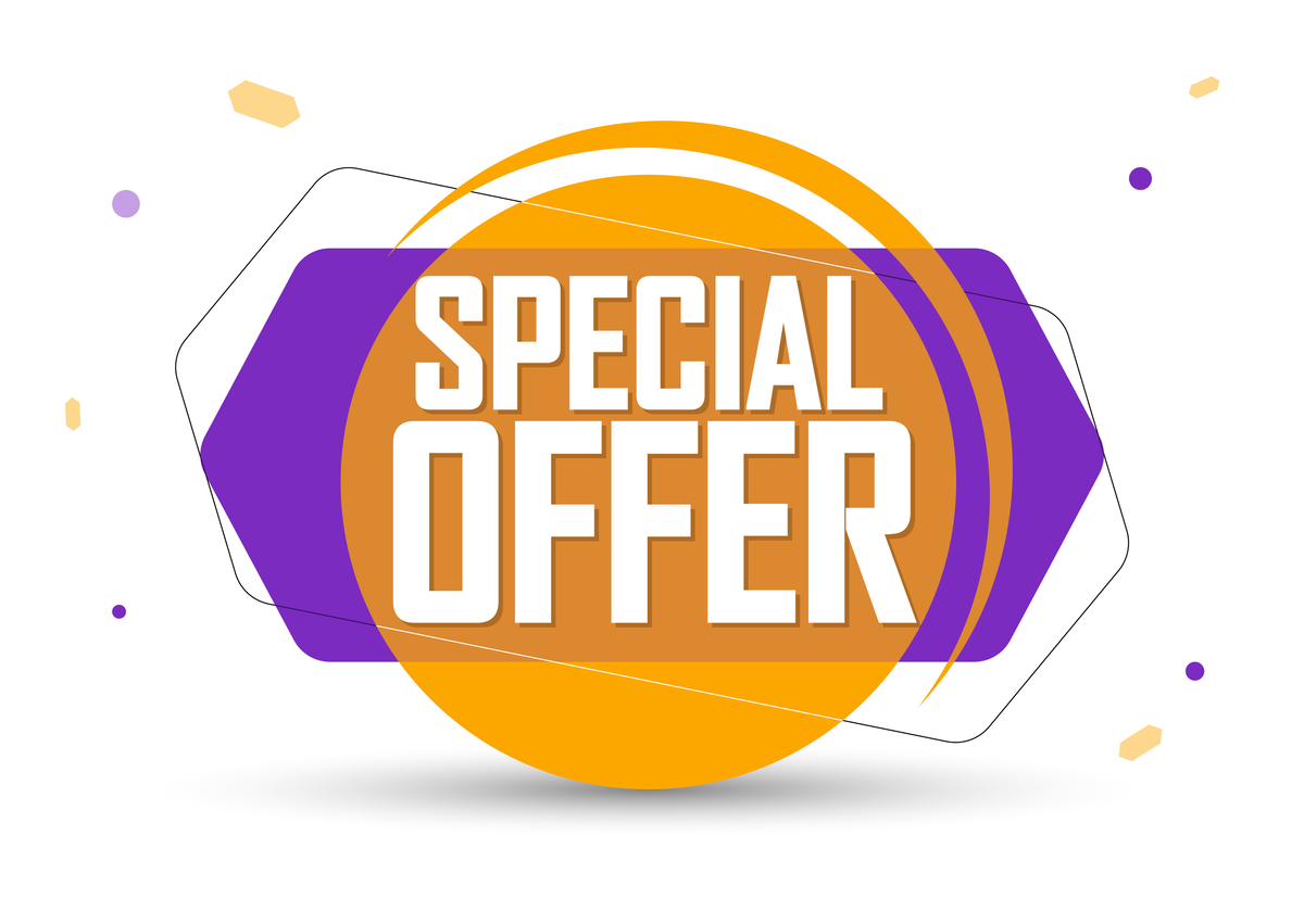 Illustration of a banner that says ''special offer''
