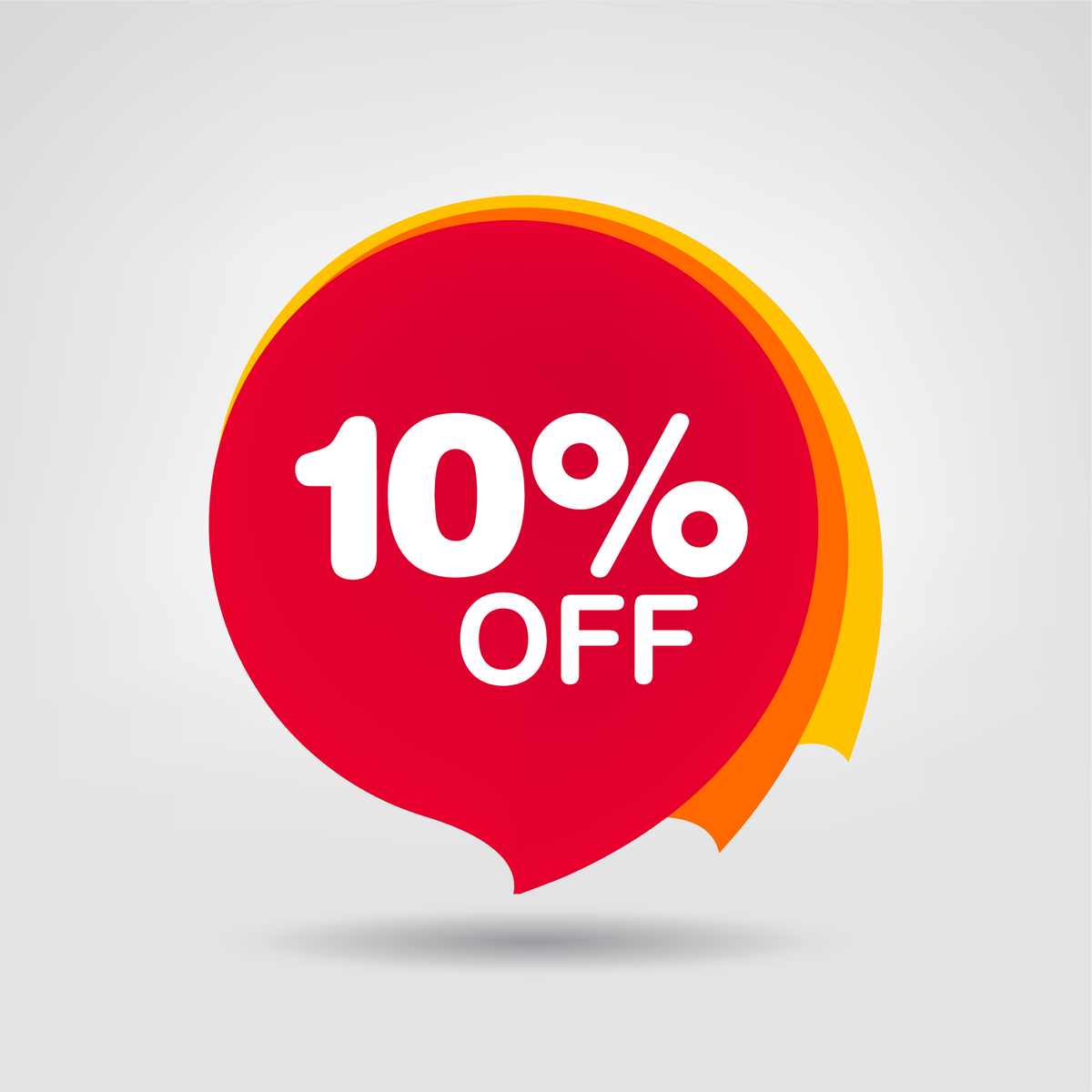 Illustration of a banner for 10 percent off.