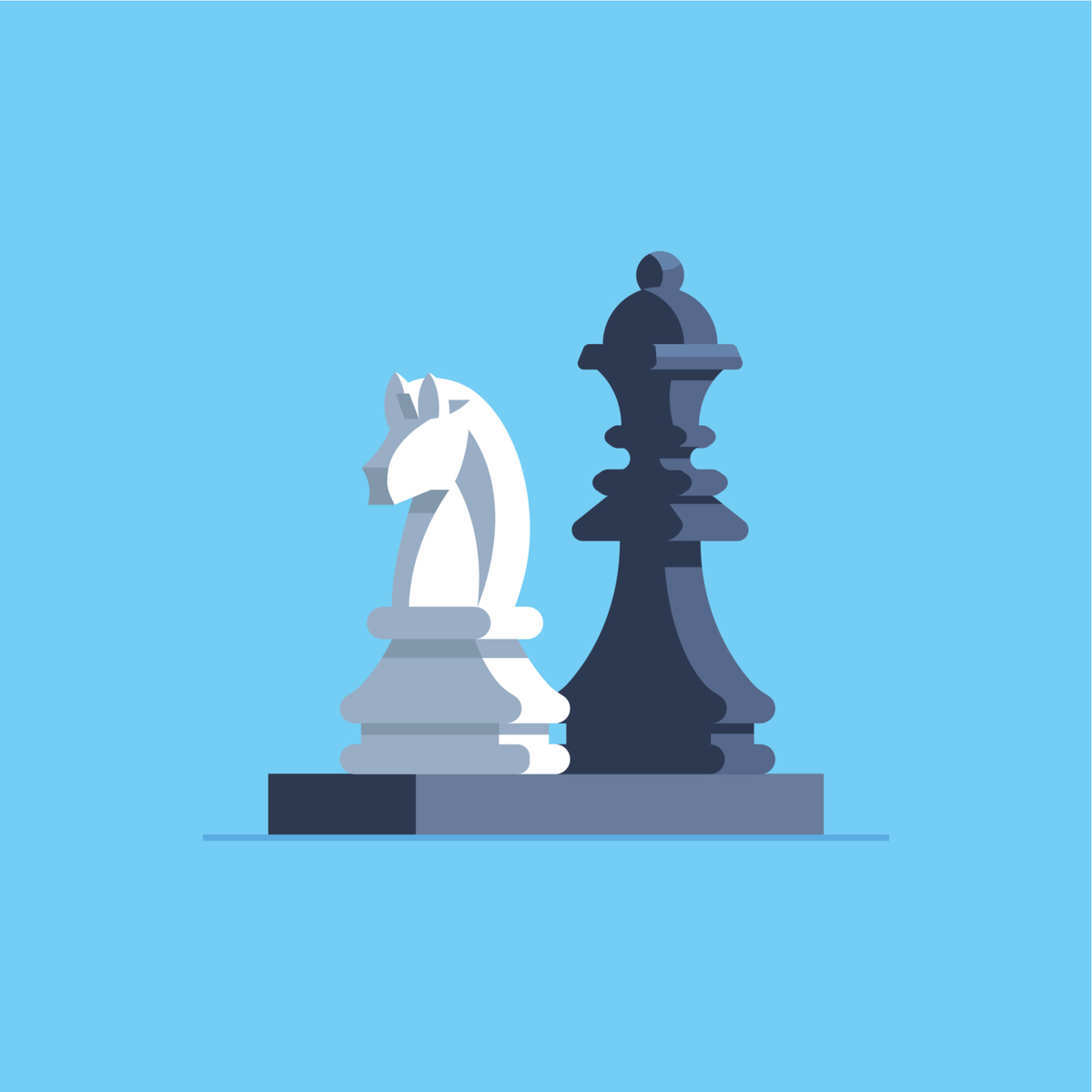 Illustration of two chess figures.